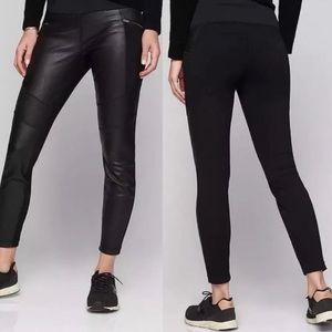 Athleta Ponte Leather Leggings Black Small